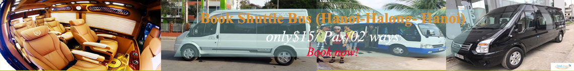 book bus to halong bay