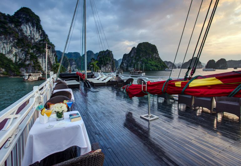 syrena cruises sun deck-syrena cruises halong bay vietnam tour packages