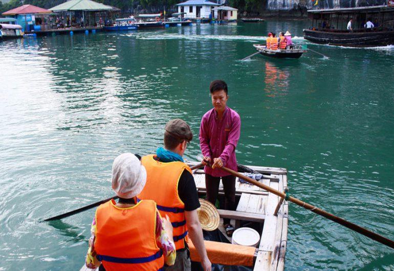 rowing boat-Amira Cruises halong tour