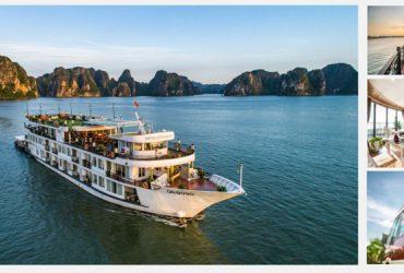 Dynasty的巡航halongbay-smiletravel